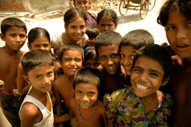 smile of children
